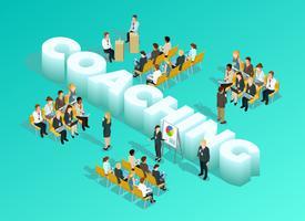 Modello isometrico di formazione aziendale