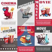 Set di poster cinematografici con pubblicità Premiere