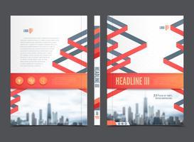 Brochure del rapporto annuale Design del volantino vettore