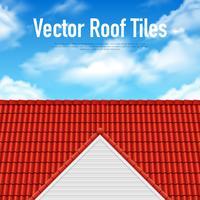 Poster di piastrelle tetto casa vettore