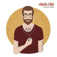 Modello di stile hipster vettore