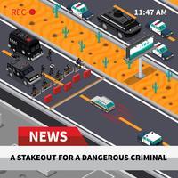 Swat Action Isometric Screenshot Screenshot Poster vettore