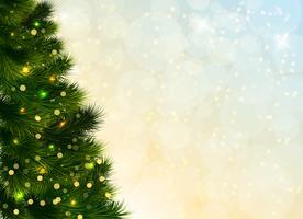 Modello di albero di Natale vettore