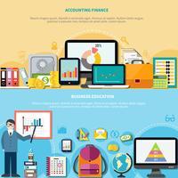 Bandiere di finanza di formazione aziendale e contabilità