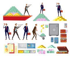 Set di elementi di ricchezza finanziaria vettore