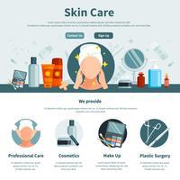 cura della pelle una pagina piatta vettore