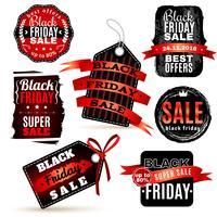 Set di etichette del venerdì nero