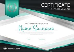 Certificato di modello di successo vettore