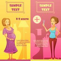 Set di banner retrò verticale gravidanza 2
