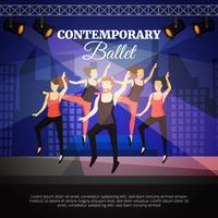 Illustrazione di balletto contemporaneo vettore