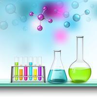 Composizione di tubi e molecole di colore