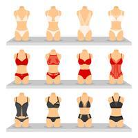 Set di immagini di lingerie di moda