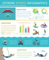 Poster di infografica piatto stile di vita estremo sport