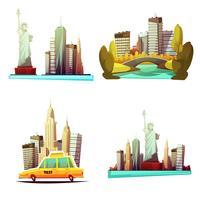 composizioni di design di New York downtown 2x2
