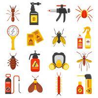 Set di icone di controllo dei parassiti vettore