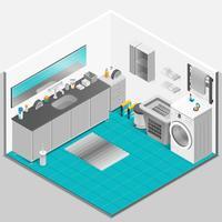 Bagno Interior Design vettore