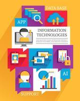 Poster Tecnologie dell'informazione vettore