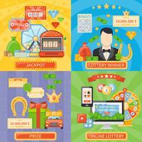 concetto di design 2x2 della lotteria e della posta vettore