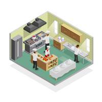 Concetto di cucina del ristorante