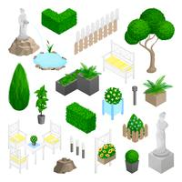 Elementi del paesaggio del parco del giardino vettore