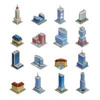Set di icone isometriche di costruzione vettore
