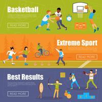 Banner orizzontale di sport per bambini