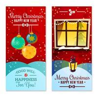 Banner verticale di Natale vettore