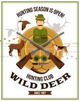 sparare poster di caccia vettore