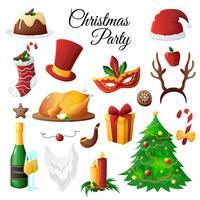Set di festa di Natale vettore