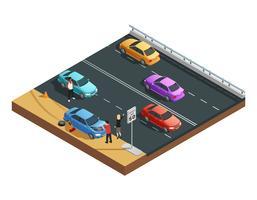 Composizione di incidenti stradali vettore