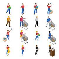 Set di icone del supermercato