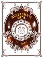 Menu Vintage Cover del ristorante