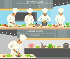 Cuoco professione banner set vettore