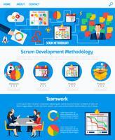 Scrum Agile Development Webpage Design vettore