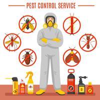 Illustrazione di servizio di controllo dei parassiti vettore
