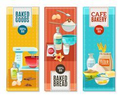 Banner di ingredienti da forno