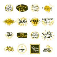 Set di etichette vegane