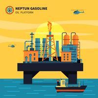 Illustrazione della piattaforma petrolifera