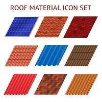 Immagini di mattonelle di tetto della casa impostate vettore