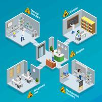 Illustrazione di concetto di ricerca e del laboratorio vettore