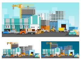 Set di composizioni di magazzino e logistica