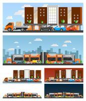 Centro commerciale e composizioni della città
