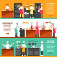 Banner orizzontale di classe Master di cucina vettore