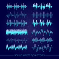 Collezione Sound Waves vettore
