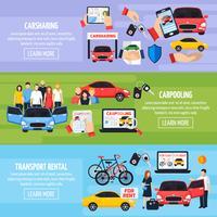 Set di banner di car sharing