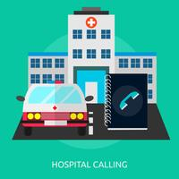 Ospedale che chiama progettazione concettuale dell'illustrazione