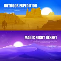 bandiere orizzontali del deserto vettore