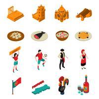 Set di icone del Portogallo vettore