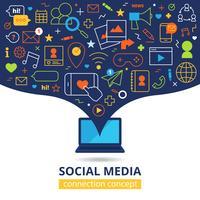 Illustrazione di media sociali vettore