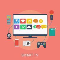 Progettazione dell'illustrazione concettuale di Smart TV vettore